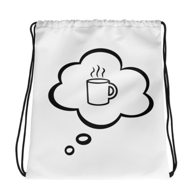 I CAN'T Without COFFEE®️-I DREAM OF COFFEE (TWO)-Drawstring bag
