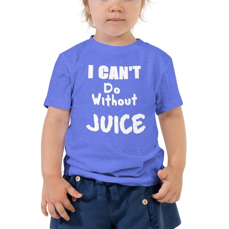 I CAN'T Without COFFEE®️- I CAN'T Do Without JUICE (TWO) Toddler Short Sleeve Tee
