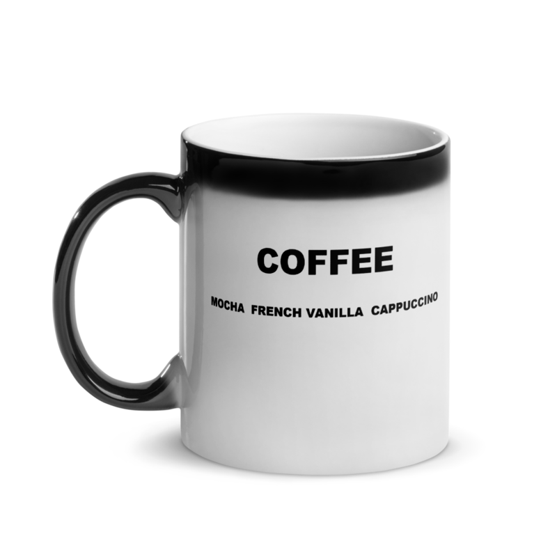 I CAN'T Without COFFEE®️- COFFEE PALETTE Glossy Magic Mug