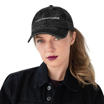 I CAN'T Without COFFEE®️-Women's LOGO Vintage Cotton Twill Cap