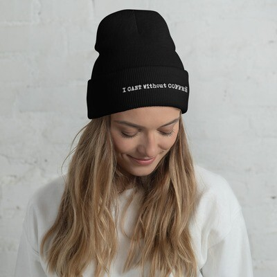 I CAN'T Without COFFEE®️- LOGO  Women's Cuffed Beanie