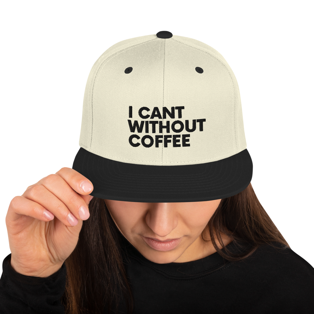I CAN'T Without COFFEE®️-BOLD IS BEST Women's Snapback Hat