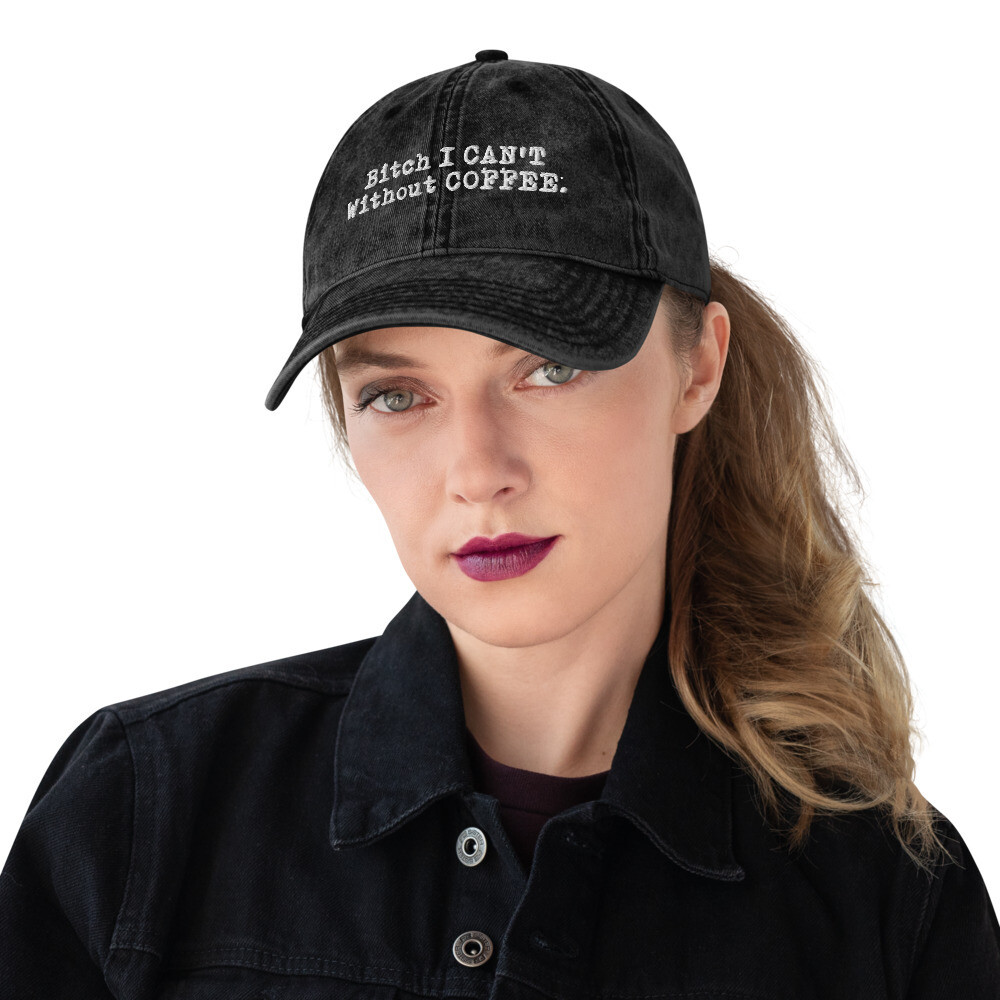 I CAN'T Without COFFEE®️ - LOGO PG-13 Women's Vintage Cotton Twill Cap