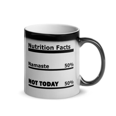 I CAN'T Without COFFEE®️- NAMASTE Glossy Magic Mug