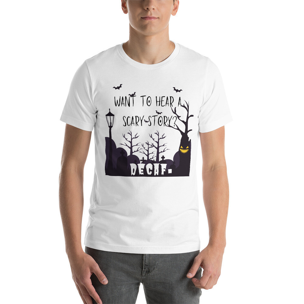 I CAN'T Without COFFEE®️ - HALLOWEEN Short-Sleeve Unisex T-Shirt