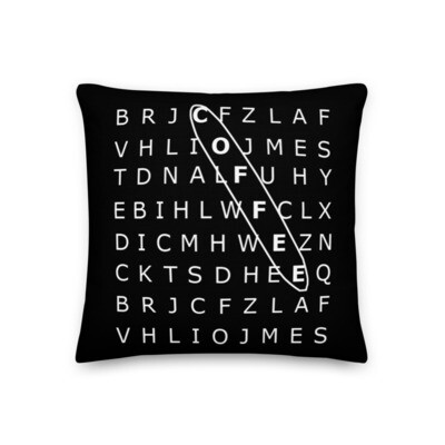 I CAN'T Without COFFEE®️ - 'SEARCH' Premium Pillow