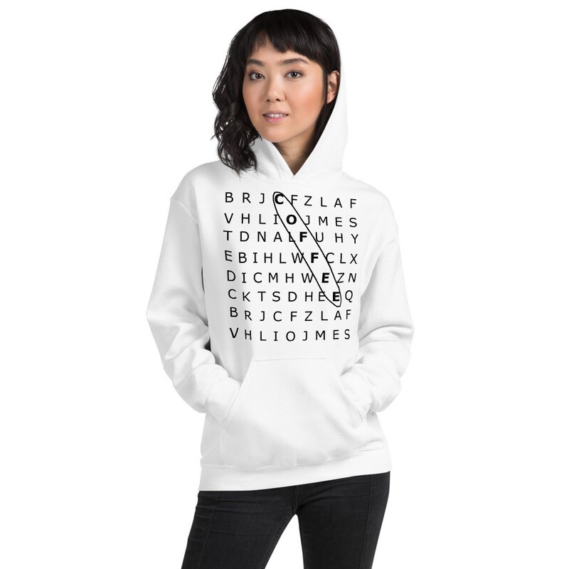 'SEARCH' Women's Graphic Hoodie