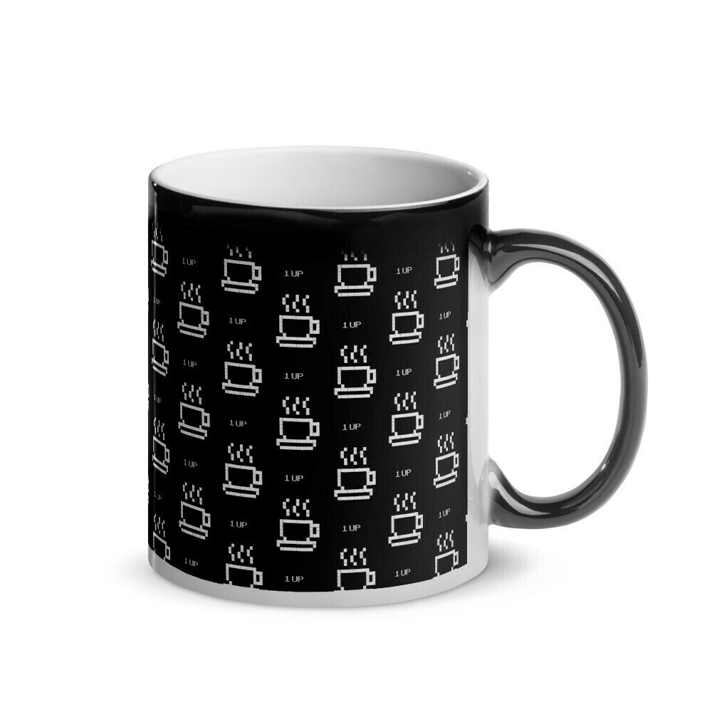 I CAN'T Without COFFEE®️-1UP Glossy Magic Mug