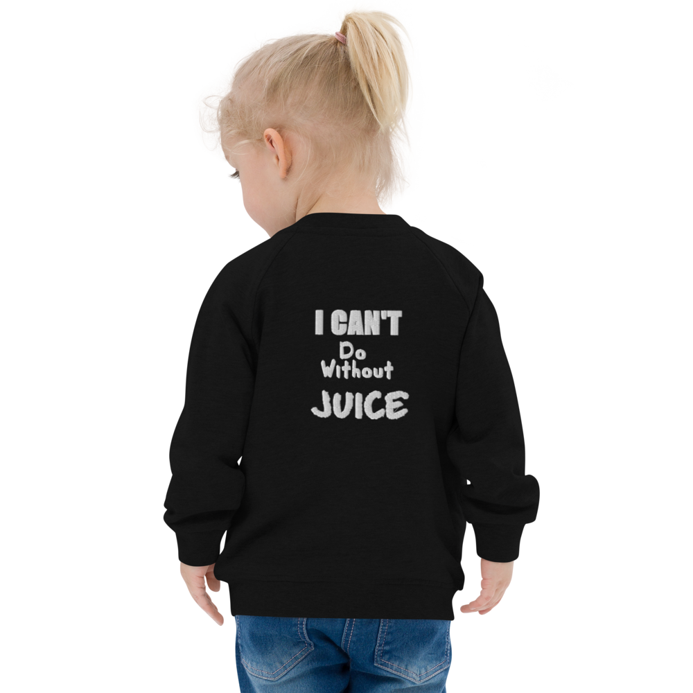 I CAN'T Without COFFEE- 'I CAN'T Do Without JUICE' Baby Organic Bomber Jacket
