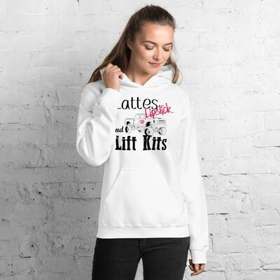 I CAN'T Without COFFEE 'Lattes Lipstick & Lift Kits' Women's Hoodie