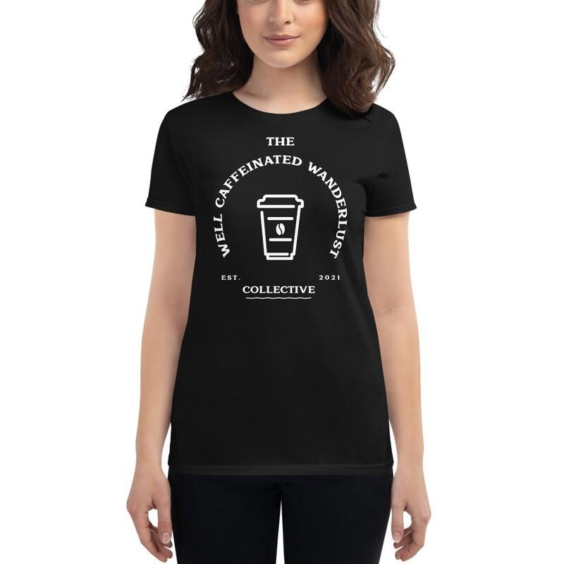 """""""Well Caffeinated Wanderlust"""" Women's Wanderlust t-shirt"""