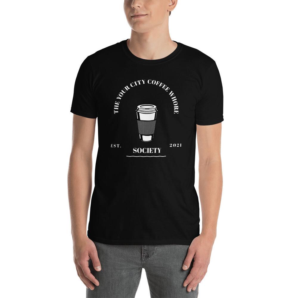 'Coffee Whore Society' Custom Men's T-Shirt