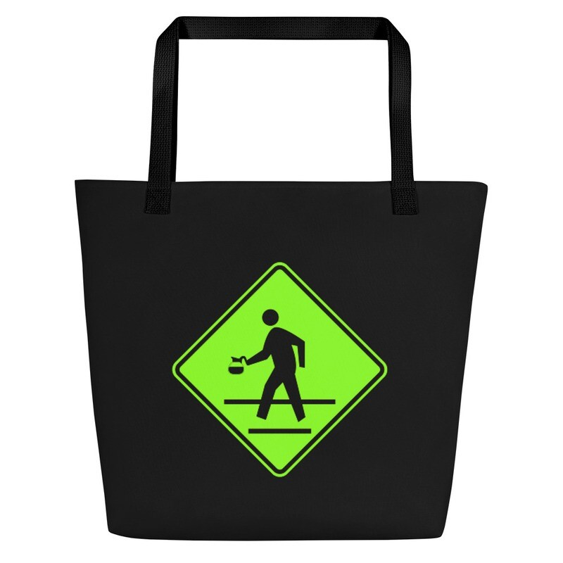 'Coffee Crossing' Tote Bag with Pocket