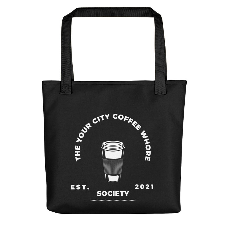 'Coffee Whore Society' Customized Tote bag