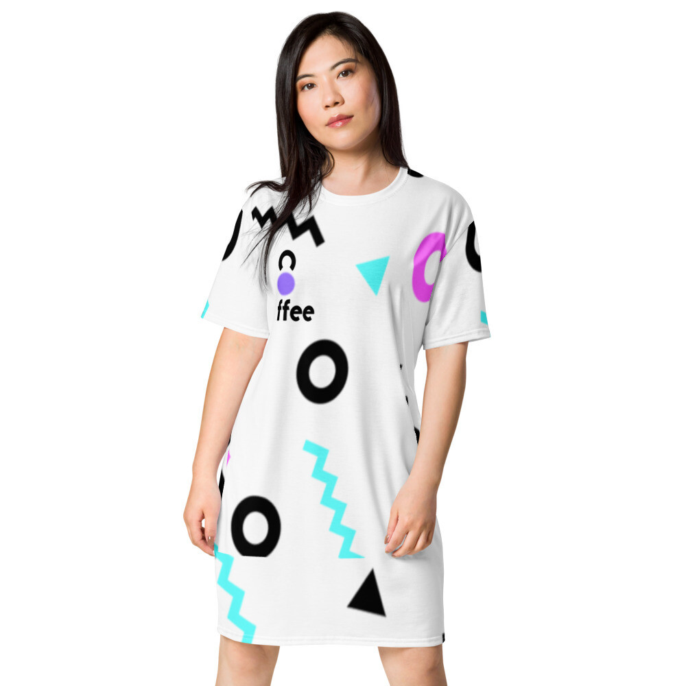 'She Came From The 80's (ONE)' Skater Dress T-shirt dress