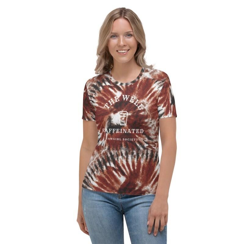 '615' Women's Tie Dye Graphic T-shirt