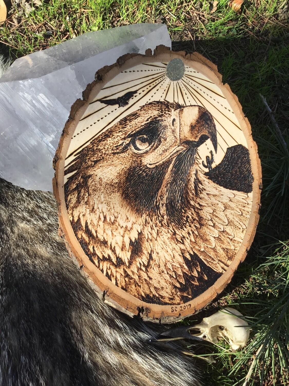 Golden Eagle on Bass wood