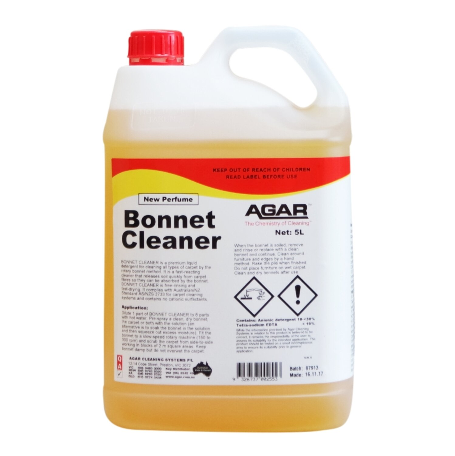 BONNET CLEANER 5 L