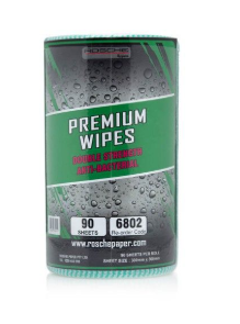 GREEN PREMIUM WIPES 90 SHEETS ROLL