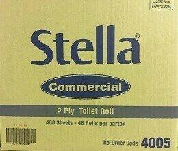 STELLA TOILET ROLL  2PLY 400SHT 48/CTN