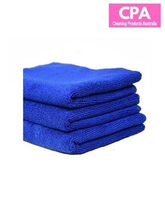 PREMIUM QUALITY MICROFIBRE CLEANING CLOTH BLUE 40CM X 40CM