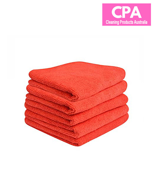 PREMIUM QUALITY MICROFIBRE CLEANING CLOTH RED 40CM X 40CM