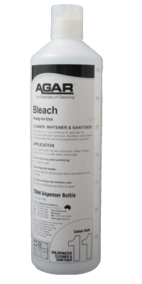 CHLORINATED CLEANERS Bleach 750ml Squirt Bottle.