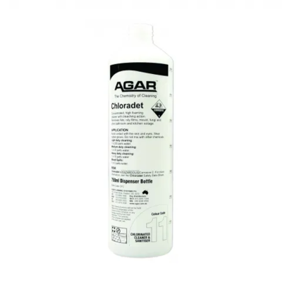 CHLORINATED CLEANERS Chloradet 750ml Squirt Bottle.
