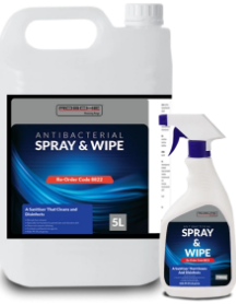 ANTIBACTIERIAL SPRAY & WIPE 750 ML