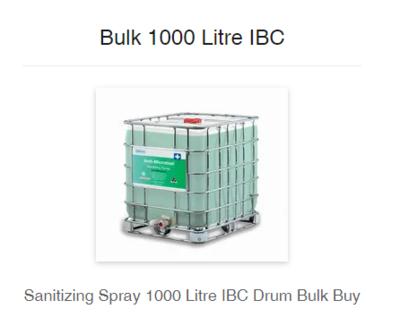 777 Enzymatic Formula Sanitizing Spray 1000L
