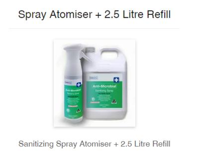 777 Enzymatic Formula Sanitizing Spray 2.5 L + Spray Atomiser