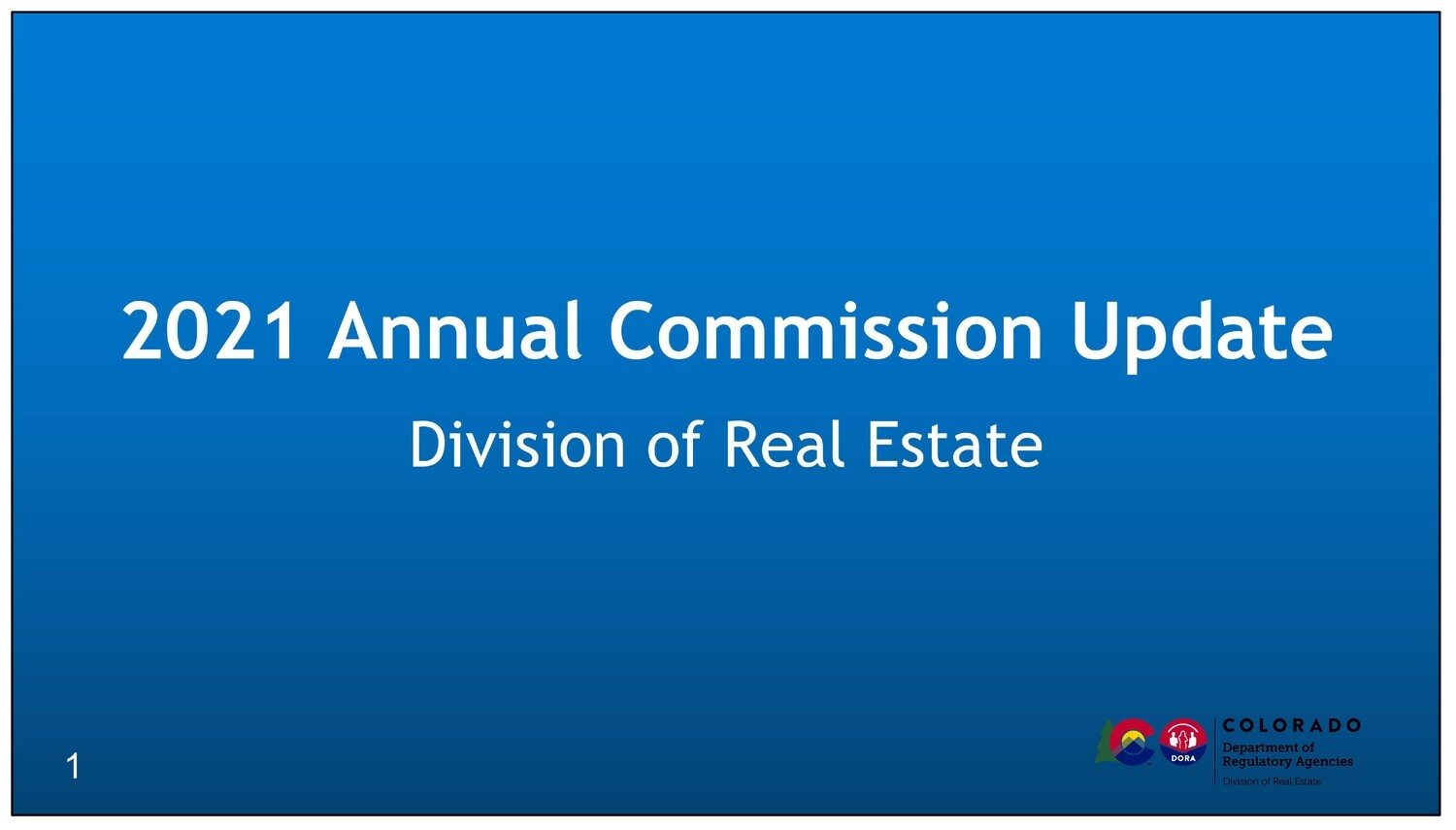 2021 Annual Commission Update