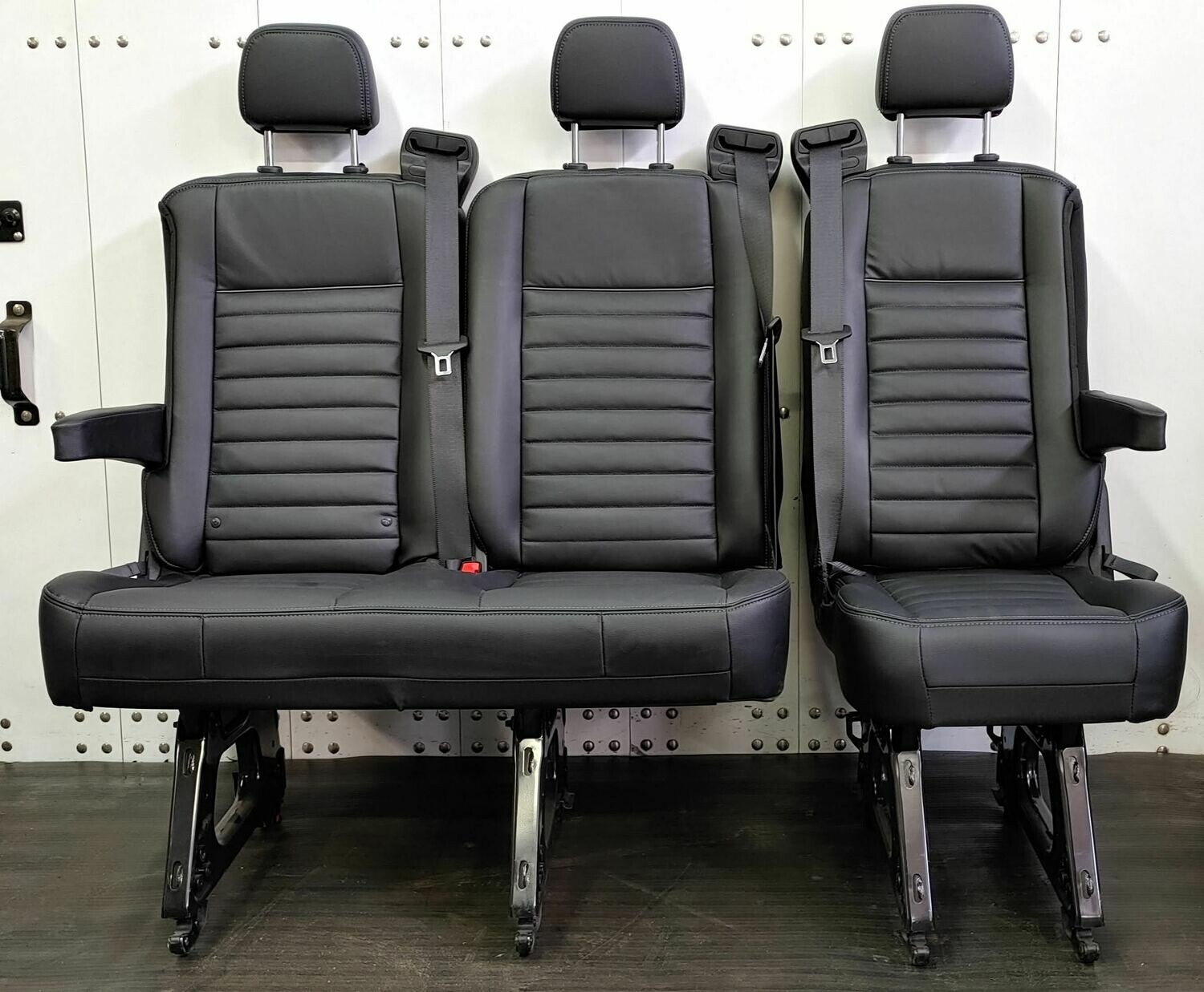 3 Passenger Leather Bench Seat -  Removable