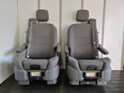 Pair of Swivel Seats W/ Child Booster Seat