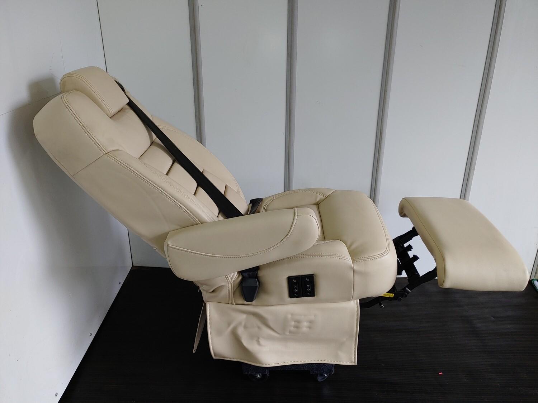 Pair of Leather Swivel Seats - Powered W/ Legrest