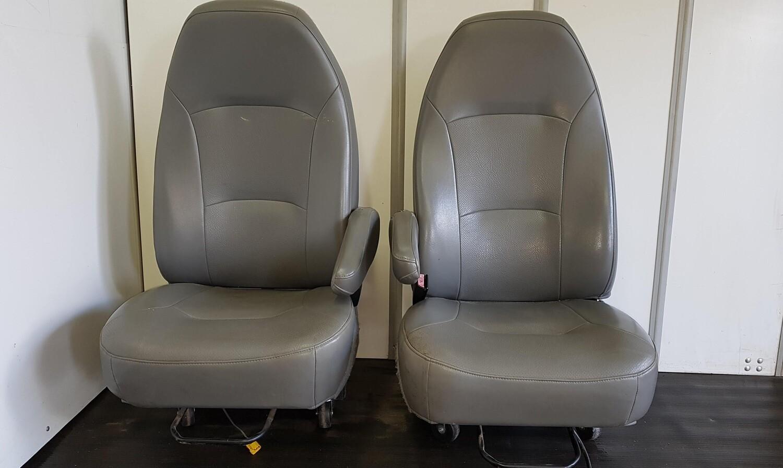 Ford Econoline Front Seats - Grey Vinyl
