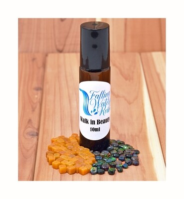 WALK IN BEAUTY - Reiki Charged Personal Essential Oil & Genuine Crystal/Gemstone Blend (Roll On) 10 mL Bottle