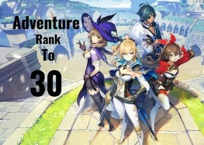 Genshin Impact Adventure Rank Leveling to 30