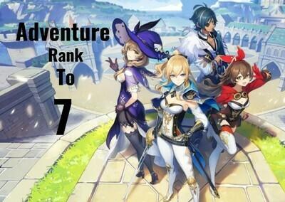Genshin Impact Adventure Rank Leveling to 7