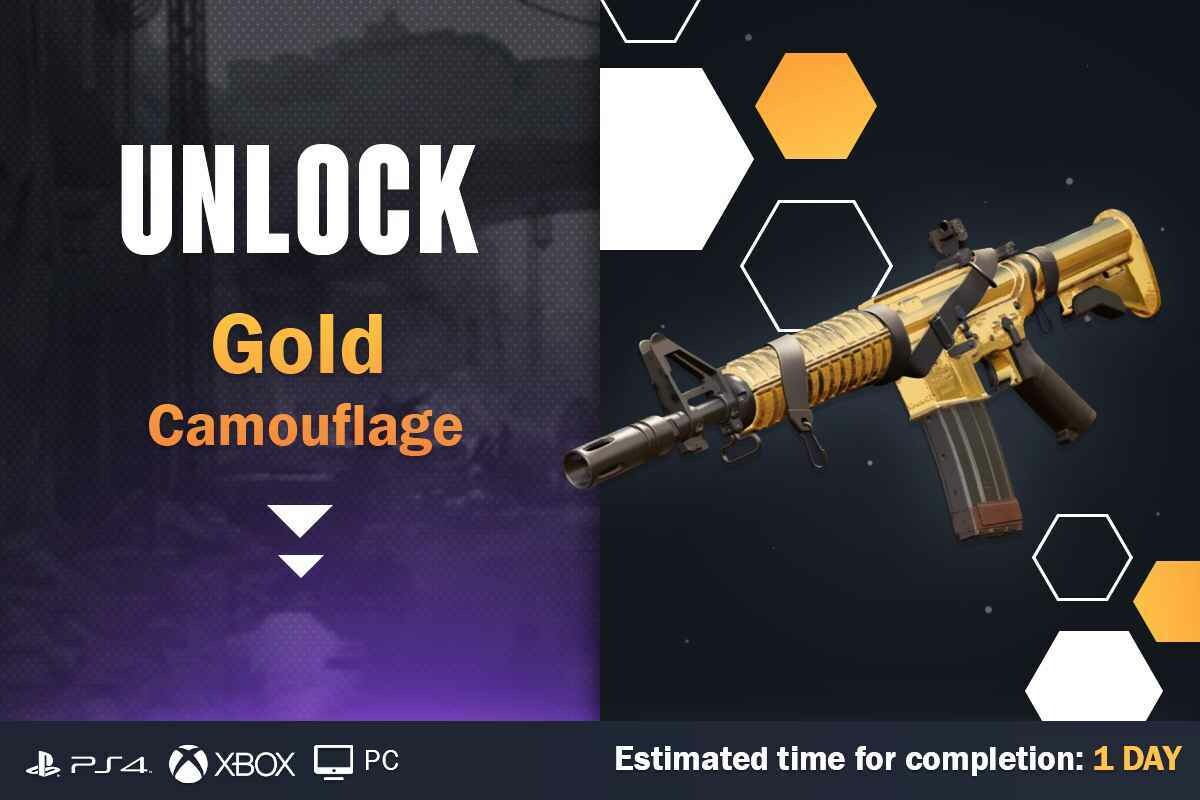 Call Of Duty Cold War Gold Camouflage Unlock