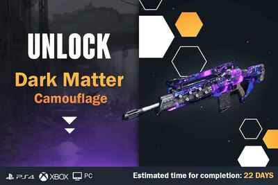 Call Of Duty Cold War Dark Matter Camouflage Unlock