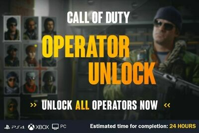 Call Of Duty Cold War Operator Unlock