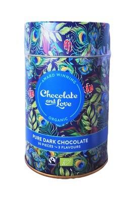 Chokolader, små chokolader i dåse