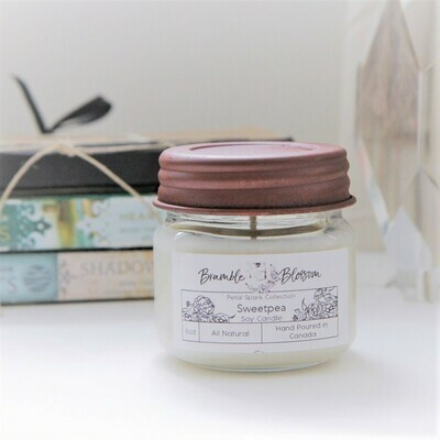 Sweetpea Hand Poured Soy Wax Candle