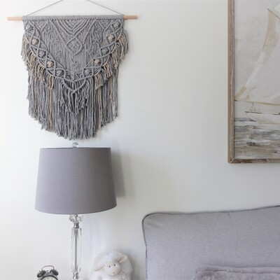 Grey Berry Macrame Wall Hanging