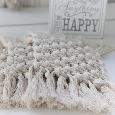 Macrame Luxury Coasters (Set of 4) - Choose Your Colour