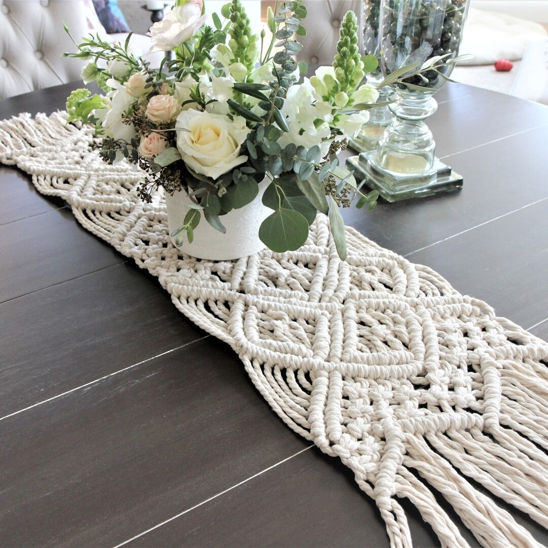 The Bramble Macrame Table Runner (Made to Order)
