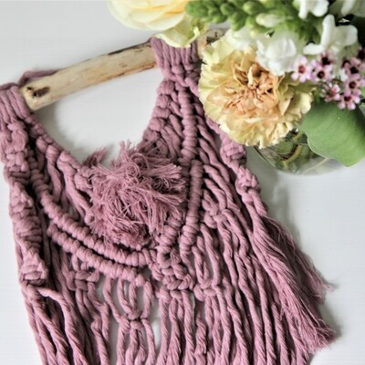 Lilac Tuft Macrame Wall Hanging