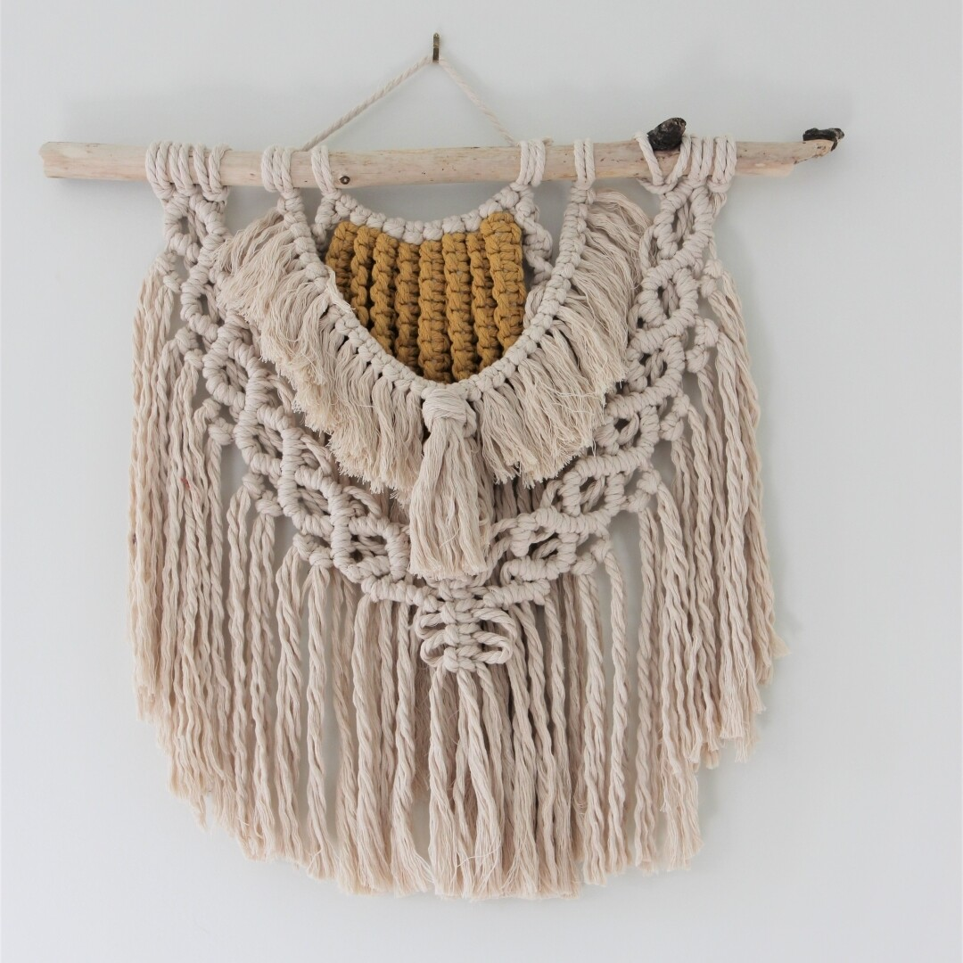 Fields of Gold Macrame Wall Hanging