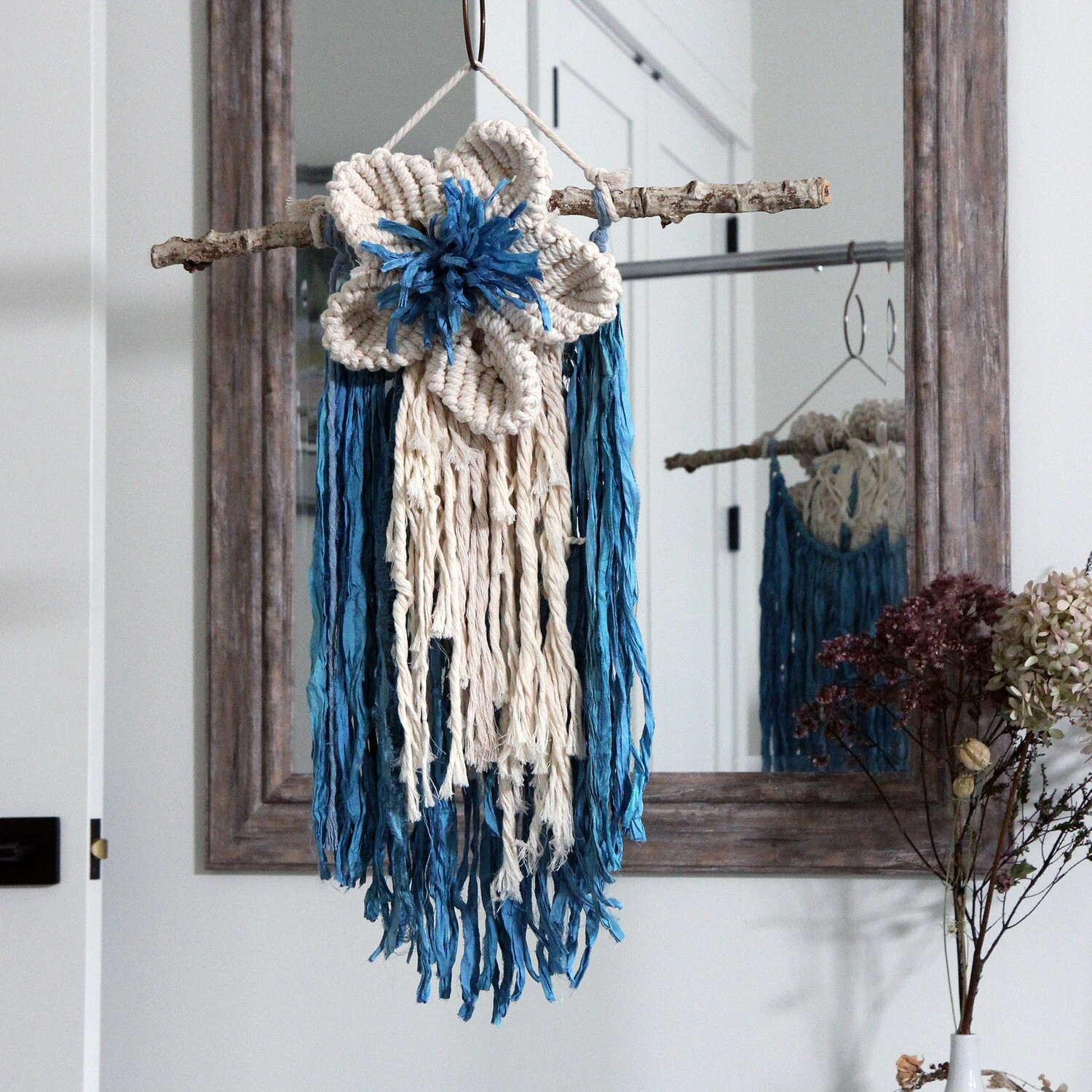 Ocean Flower Macrame Wall Hanging